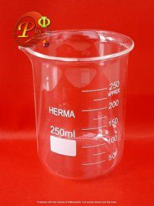 Beaker Beaker Glass Gelas Kimia 250 ml HERMA phyedumedia