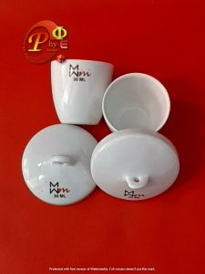 Crucible Tabung Porselen Krusibel Crucible Porclain Cawan Krusibel 30 ml
